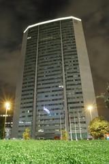 Grattacielo pirelli di notte a Milano in Italia, Skyscraper by night in Milan in Italy