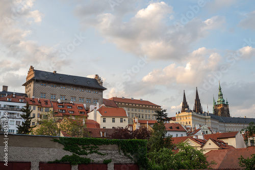 Palace on the Hradčany Square and a view of the Prague Castle