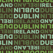Dublin, Ireland seamless pattern - 245574705