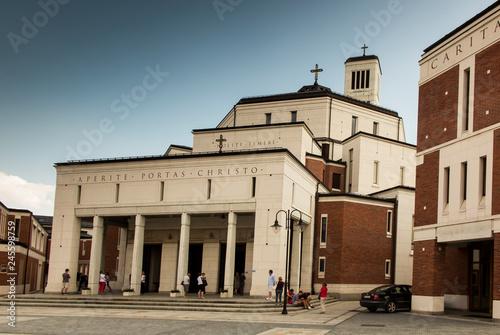Sanctuary in Lagiewniki. The centre of Pope John Paul II.