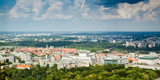 Panoramic view of Warsaw from above