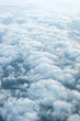 Fluffy clouds. Aerial view. - 245607566