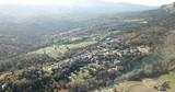 Image of Catalan village Vilanova de Sau - spain village from aerial view - 245623175