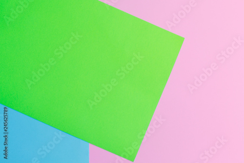Soft pink, green and blue paper as texture background. Minimal concept. Creative concept. Pop Art. Bright Sweet fashion Style. - 245625789