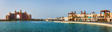 Panoramic view at the palm island in Dubai