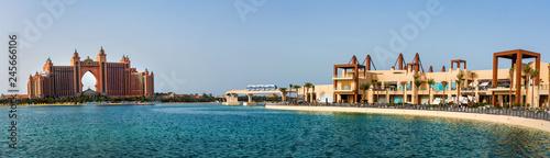 Leinwanddruck Bild  Panoramic view at the palm island in Dubai