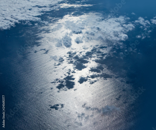 Aerial view of the blue waters - 245692177