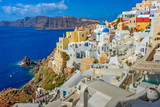 Architecture on the island of Santorini, Greece, Europe - 245732924