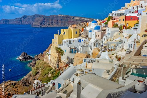 Architecture on the island of Santorini, Greece, Europe