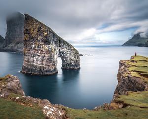 Drangarnir rocks at Faroe Islands, Europe. © ronnybas