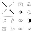 approximate a macro icon. photography icons universal set for web and mobile