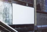 Blank white billboard - 245786565