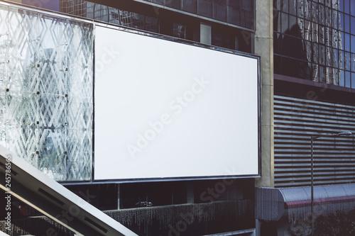 Blank white billboard © peshkov