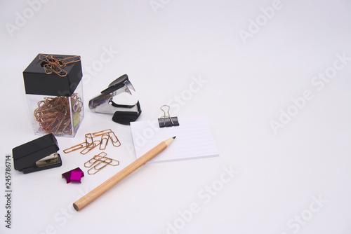 fototapeta na ścianę school and office supplies on white background