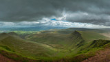 Fototapeta Natura - Stunning landscape image of view from Pen-y-Fan towards Cribyn and Corn Du in Brecon Beacons © veneratio