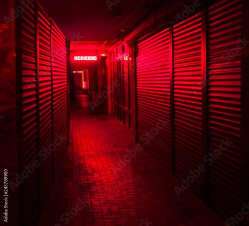 fototapeta na ścianę red-light street