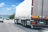 Cargo truck on highway