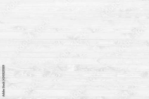 White wood texture background top view. Light wooden surface backdrop. - 245829389
