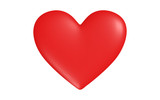 Red heart with highlights of light, vector