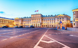 Russia, Building of Legislative assembly of St Petersburg, Isaak Square, night - Mariinsky palace - 245878597