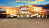 Building of Greek parliament in Syntagma square, Athens, Greece - 245879165