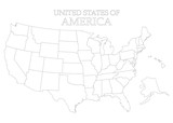 States of America territory on white background. American flag. Separate state. Vector illustration