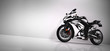 Sports motorcycle on white background.