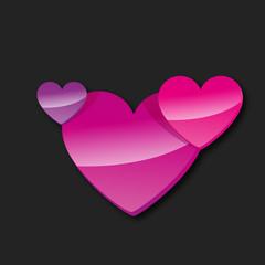 carte coeur, vecteur