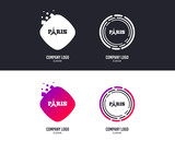 Logotype concept. Eiffel tower icon. Paris symbol. Logo design. Colorful buttons with icons. Vector