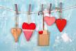 Leinwandbild Motiv romantische herzen zum Valentinstag