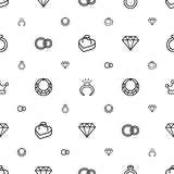 jewelry icons pattern seamless white background