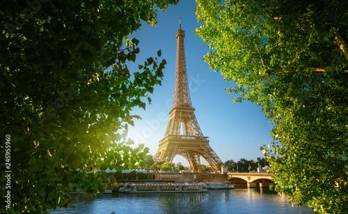 Seine in Paris with Eiffel tower - 245955960