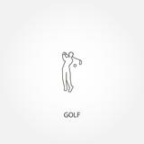 Golf player vector icon