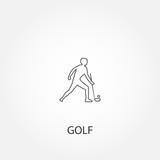 Golf player icon