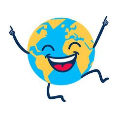 Glücklicher Planet Erde, Cartoon