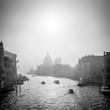 Quadro Canal Grande in Schwarz Weiss, Venedig, Italien