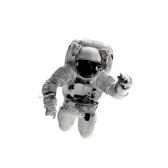 astronaut on the white backgrounds.