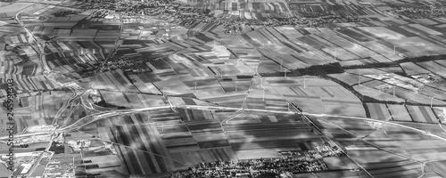 Leinwandbild Motiv rural landscape near Vienna with wing generators