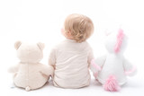 baby photo shoot with teddys