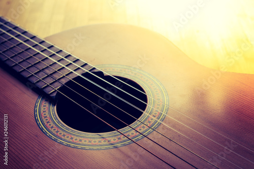 Classical guitar and strings, professional instrument - 246012131
