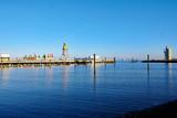 Blick auf den Hafen von Cuxhaven