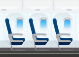 Airplane seat in the cabin - 246061316