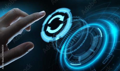 Leinwanddruck Bild Update Software Computer Program Upgrade Business technology Internet Concept