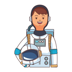 space astronaut upperbody cartoon