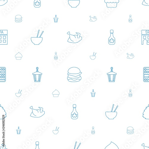 traditional icons pattern seamless white background © HN Works