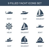 yacht icons - 246082727