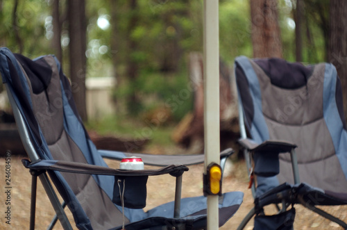 Comfortable chair for camping with pocket