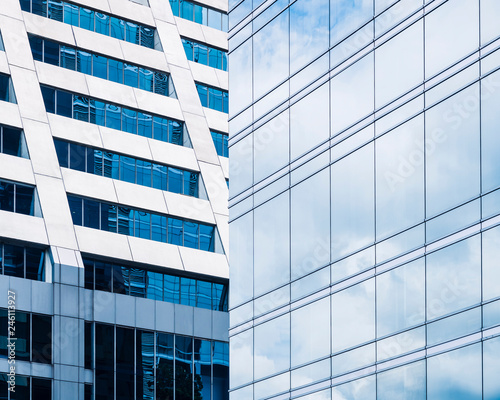Architecture details Glass Facade Modern building Business background - 246113927