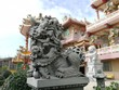 Chinese lion at the front of Chinese temple