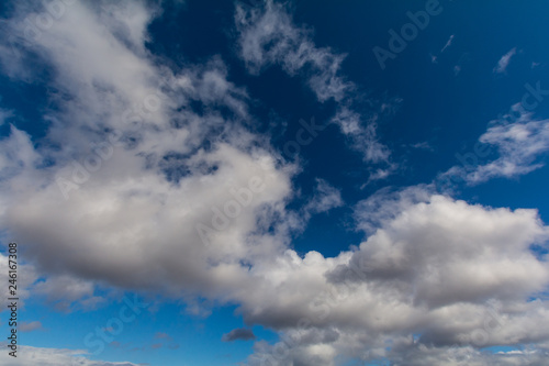 Clouds on blue sky. - 246167308